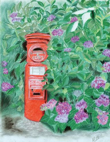 ポストin紫陽花