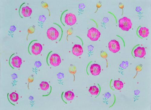 花をモチーフにした包装紙