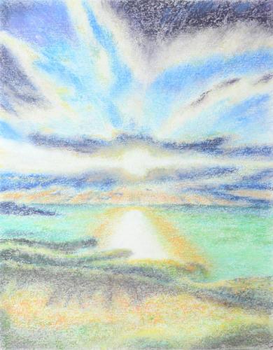 太陽と水平線