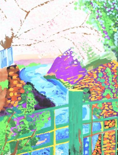 04赤坂 大岡川の桜 R2.9.30