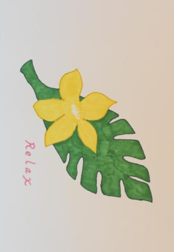 ハワイのきいろい花