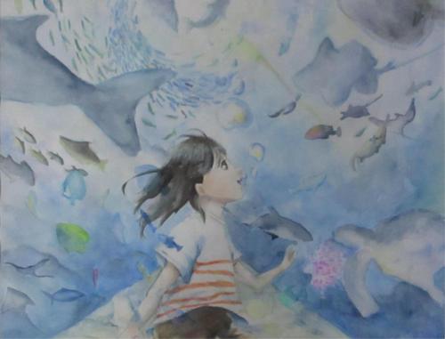 海の中で私は