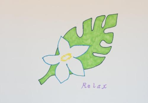 ハワイの白い花