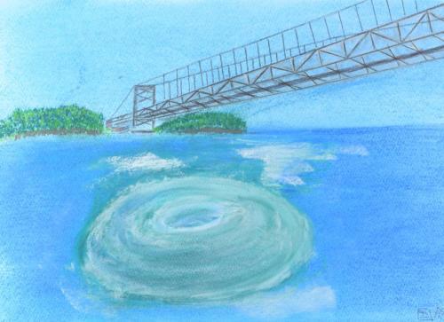 大鳴門橋と鳴門の渦