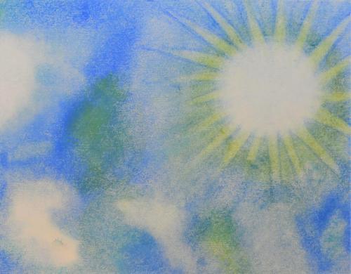 真昼の青空