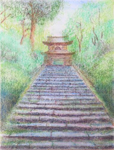 浄智寺への階段