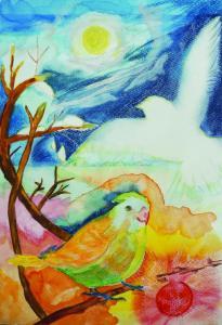 冬の鳥と自由
