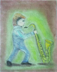 楽器と少年