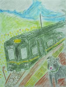 愛犬と散歩 in熊本くま川鉄道