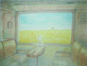 くま川鉄道の車窓から