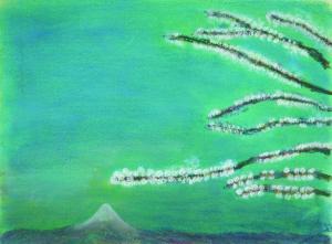 梅と富士山