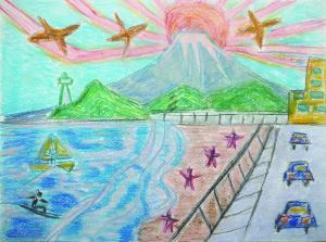 江の島の富士