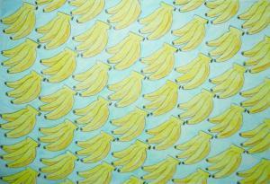 バナナまみれで南国気分